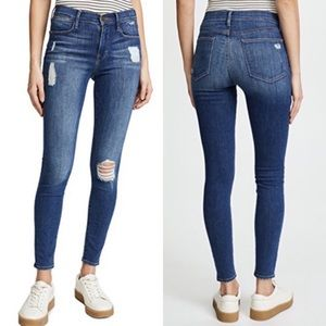 FRAME Le High High-Rise Skinny Jeans in Hilltop 27